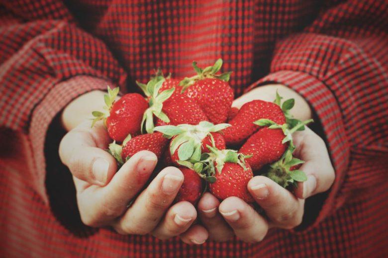 Masque visage bonne mine à la fraise
